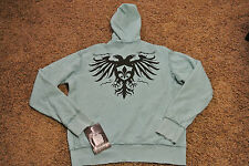 AFFLICTION LIVE FAST Jacket Hoodie Sweatshirt S NWT$168 Extreme Couture! Blue!