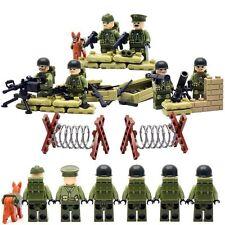 Lego Guerra Mundial Ejército Militar Swat Policía Minifiguras Construcción Ladrillo Marina soldado