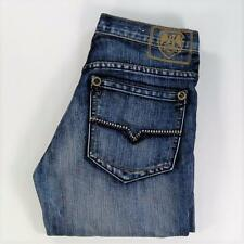 Request Jeans Youth Mid Wash Mid Rise Distressed Size 14