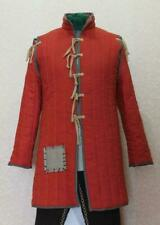 Medieval Gambeson Reenactment Costume Theater Roman Red Color Best Dress