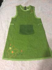 Catimini girls 10a 138 green wool jumper dress flowers