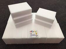 "25 PACK Magic Sponge Eraser Heavy Duty Extra Durable Power Pro 1 1/4"" Thick Foam"