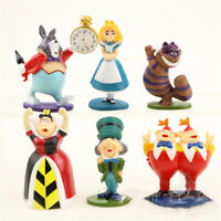 1 Set of 6 Disney Movie Alice in Wonderland Colection Figures Figurine Toy 5-7cm