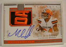 NICK CHUBB BROWNS /75 ON CARD AUTO SICK PATCH IMPECCABLE PANINI FOOTBALL 2019