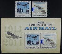 Australien Australia 2014 First Airmail 1. Flugpost Flugzeuge Airplanes Aircraft