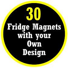 30 x personnalisé rond aimants de réfrigérateur, propre photo / Design, cadeau