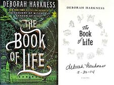 Deborah Harkness SIGNED & DATED The Book of Life 1st/1st HC + Photos! All Souls