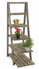 Holz Pflanztreppe 118cm - 5 Ablagen - Blumen Treppe Etagere Regal Pflanzenleiter