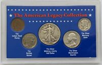 The American Legacy Collection 5 Piece Coin >Half, Quarter, Dime, Nickel, Penny<