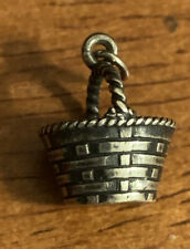Retired James Avery Sterling Silver Easter Picnic Basket Charm Uncut
