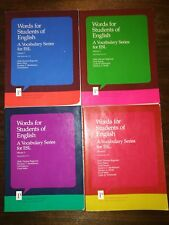 Words for Students of English 4 volumes: Vocabulary Series for ESL book lot