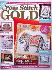 Cross Stitch Gold UK Magazine March 2008 Issue 4 Patterns Elephant Victorian