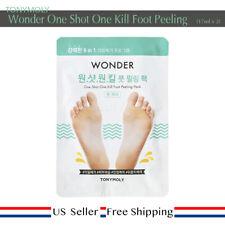 TonyMoly Wonder One Shot One Kill Foot Peeling Pack + Free Sample [ US Seller ]