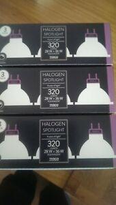 Brand New - 9 x Tesco 12V GU5.3 Cap Halogen Spotlight 320 Lumen 28W = 36W Equiv