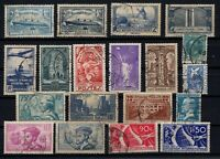 PP135442/ FRANCE STAMPS – YEARS 1923 - 1936 USED SEMI MODERN LOT – CV 191 $