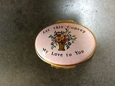 Halcyon Enamel Box Let this Convey My Love to You