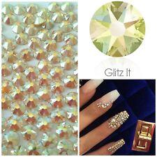 Swarovski x 50 MIXED SIZE Jonquil AB Gold Crystals Rhinestones GLUE ON Nail Art