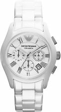 NEW EMPORIO ARMANI AR1403 MENS WHITE CERAMICA WATCH - 2 YEAR WARRANTY