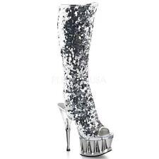 Kniehohe Stiefel normale Weite (E) ohne Muster für Party-Anlässe