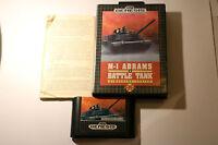 Sega Genesis Systems Game -- M-1 ABRAMS BATTLE TANK SIMULATOR SERIES -- 1991