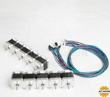 US free!10pcs Nema17 stepper motor 17HS4417L20P1-X2,48mm,2.5A,plane,3D printer