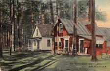 The Restaurant, Forest Lake, Winchester, New Hampshire ca 1910s Vintage Postcard