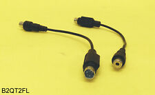 "Lot 2: 7"" 4pin Male S-Video-Out to RCA Female Composite-Out Video Adapter Cable"