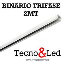 BINARIO TRIFASE 2MT 220V PER FARETTI LED DA BINARIO COLORE BIANCO