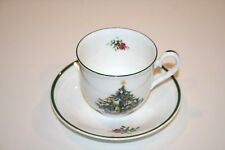 Cerno Elizabethan Seasons Greetings Cup & Saucer Staffordshire England BRAND NEW