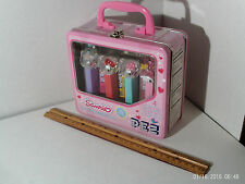 Hello Kitty & My Melody 2006 Sanrio SEALED Metal Lunchbox with 4 PEZ Dispensers