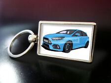 FORD FOCUS RS ART METAL KEY RING. CHOOSE YOUR CAR COLOUR.
