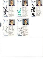 NHL/DEL Trading Cards---5 unterschriebene Cards der München Barons