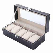 5 Grid Watches Display Case Jewelry Collection Storage Organizer Boxes DWL