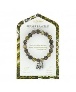 NEW JILZARA Clay Beads PRAYER BOX CHARM LONDON GREY BROWN Petite 8mm Bracelet