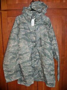 New USAF Air Force Improved Rainsuit Parka ABU Tiger Stripe Camouflage LARGE