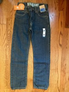 NWT Gymboree Sz 8 Boy Blue Jeans INDIGO DYE Straight Adjustable Waist 5-Pocket