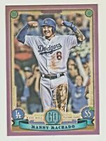 2019 Topps Gypsy Queen PURPLE PARALLEL #115 MANNY MACHADO Padres RETAIL ONLY