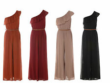 Full Length Chiffon One Shoulder Party Dresses for Women