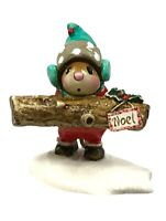 Wee Forest Folk Yule Log Christmas Special Red M-337 Retired Mouse Figurine Noel