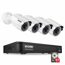 ZOSI 8CH 1080N HDMI DVR 1TB HDD 720p 1500TVL Network Home Security Camera System