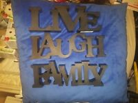 Live Laugh Family 3D wall Mount Wall decoration Set 3 NEW Ship Fast Three Dimen