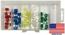 50 Piece Mini Fuse Assortment ATM / MIN - 10 Each of 5 Different Amps - USA Made