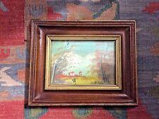Oil painting On Board Alpine Scene Signed/ Framed/ Ready 2 Hang