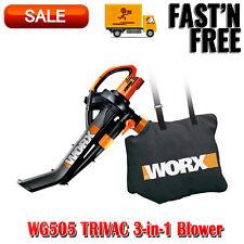 WG505 TRIVAC 3-in-1 Blower Mulcher, Yard Vacuum, Electric, Collection Debris Bag