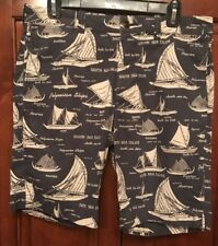 J Crew Mens Shorts 31 Sailboat Design Excellent.Condition. Gr8 Price Only 1 BUY