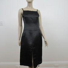 Christian Lacroix Sheath Dress Black Satin Size 38