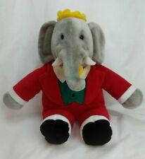 """Vintage Babar by GUND plush Elephant 14"""" By GUND 1988 Stuffed Toy"""