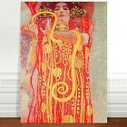 "Gustav Klimt Hygeia ~ FINE ART CANVAS PRINT 24x18"""