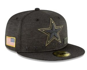 Official 2020 Dallas Cowboys New Era NFL Salute to Service 59FIFTY Fitted Hat