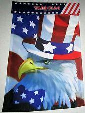 """Patriotic Garden Flag 12"""" x 18"""" Patriotic Eagle"""